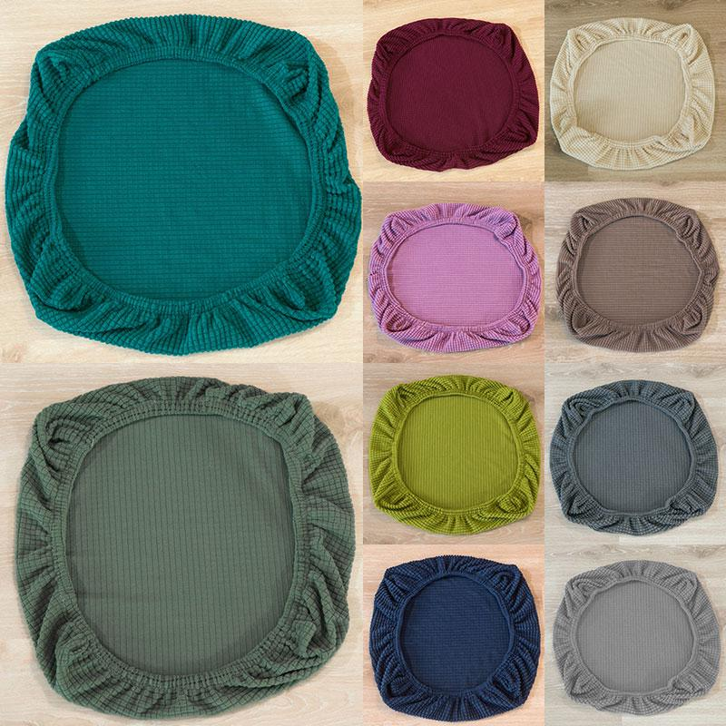 Solid Color Universal Seat Cover, Dining Room Chair Seat Cushion Covers