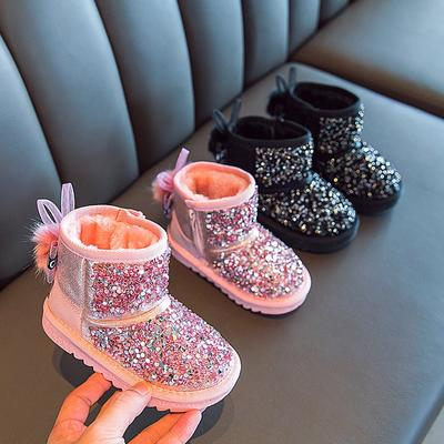 Girls Boots Kids Shoes Warm Cotton Plush Inside Children's Snow Boots Non-slippery For Kids Cute Boots