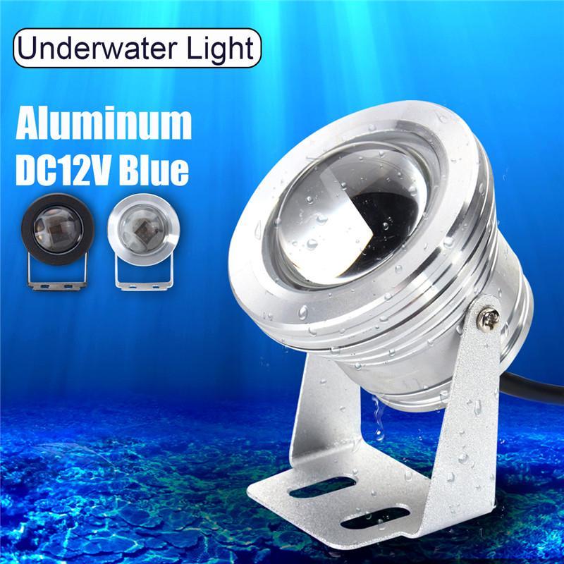 2 X 12V STAINLESS 10W SUBMERSIBLE BAIT WHITE UNDERWATER LED TRANSOM BOAT LIGHTS