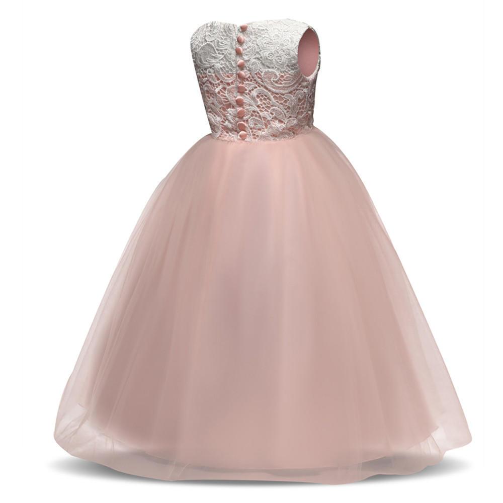 Fiesta de cumpleaños de vestido flor bebe niña Princesa Dama de ...