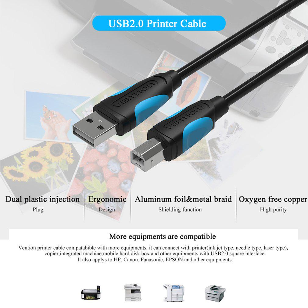 Vention A16 Male To Usb 20 Square Port Sync Data Printer Hispeed A Minib 5 Pin Cable Power Lead 1m Usb2 1 Of 10