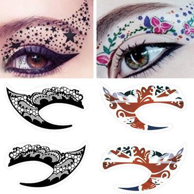 Eyeliner Rock Eye Temporary Tattoo Colorful Sticker Eyeshadow Party