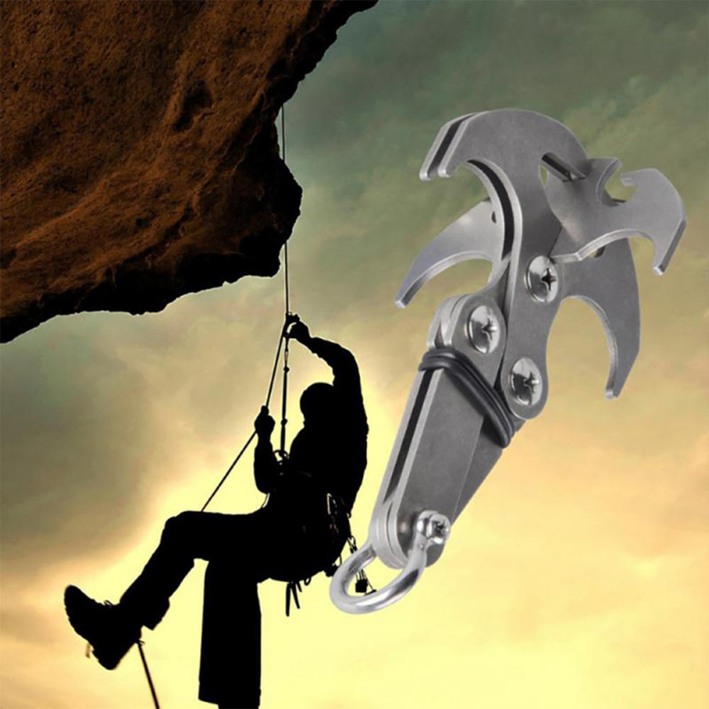 Stainless Steel Jewelry Grappling Hook Auto fasten clip Carabiner Climbing Claw