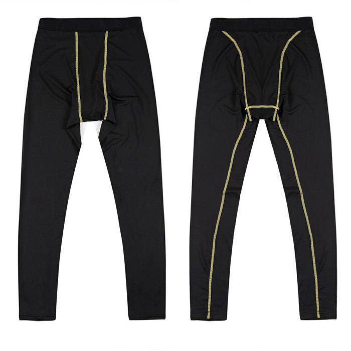 cefa5dbd8f697 Pantalones de fitness yoga polainas marca auténtico ropa deportiva hombres  compresión mallas para correr