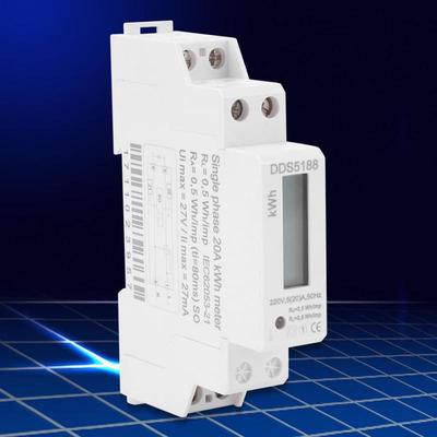 Numérique LCD DIN-Rail Compteur électrique Monophasé KWh Mètre 220V 5-32A Outil