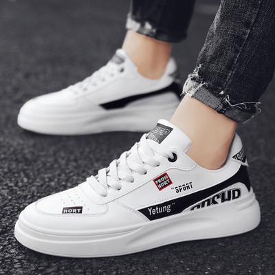 Sneakers Women Platform Casual Wild Thick Bottom Leisure Black /& White Letters Shoes