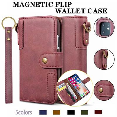 Luxury Retro Flip Wallet Card Holder Leather Phone Case For iPhone 11 12 Pro Max 12 Mini XS Max XR X 8 7 6 6S Plus