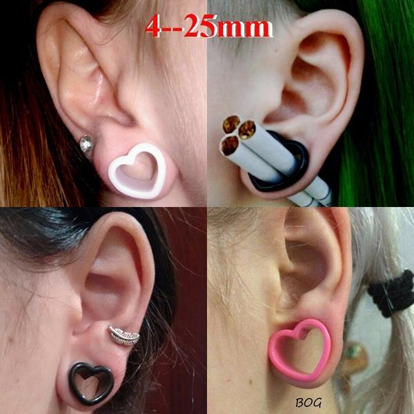 Pair of Double Flare Goldfish Picture Plugs gauges Choose Size