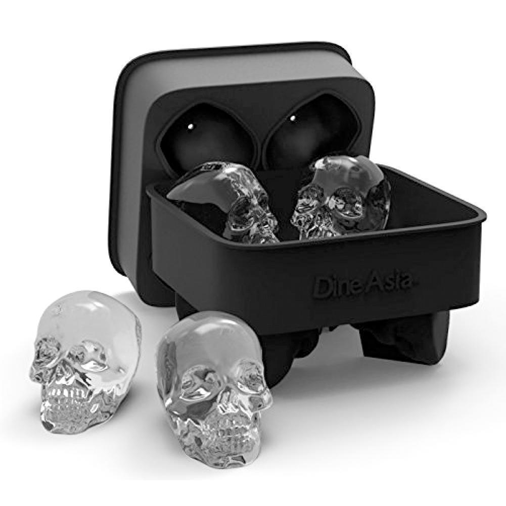 DIY Skull Shape 3D Ice Cube Mold Maker Bar Party Silicone Trays Chocolate Mold