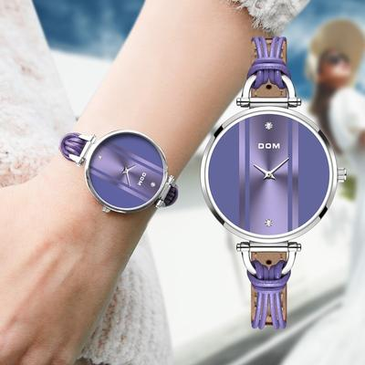 Fashionable Simple Leisure Beautiful Style Swimming Waterproof Girl Watch Women's Watches  Leather Quartz Wristwatch
