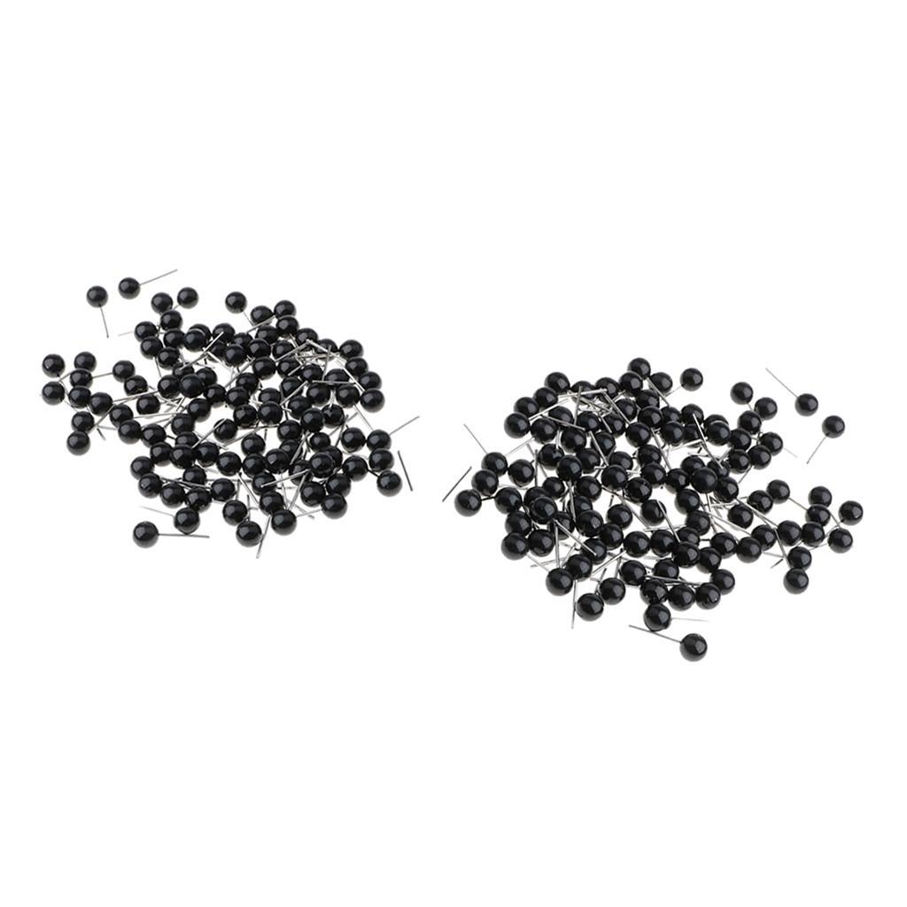 100pcs 2//3//4mm Yeux de Sécurité Plastique Pour Poupées Peluche Ours Couture  FR
