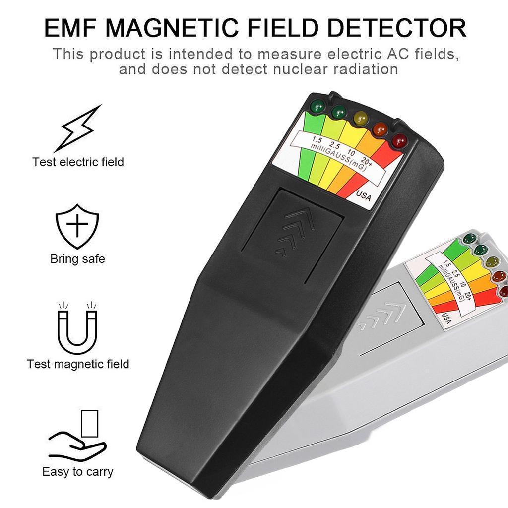 EMF Meter Magnetic Field Detector Ghost Hunting Paranormal Equipment Tester Tool