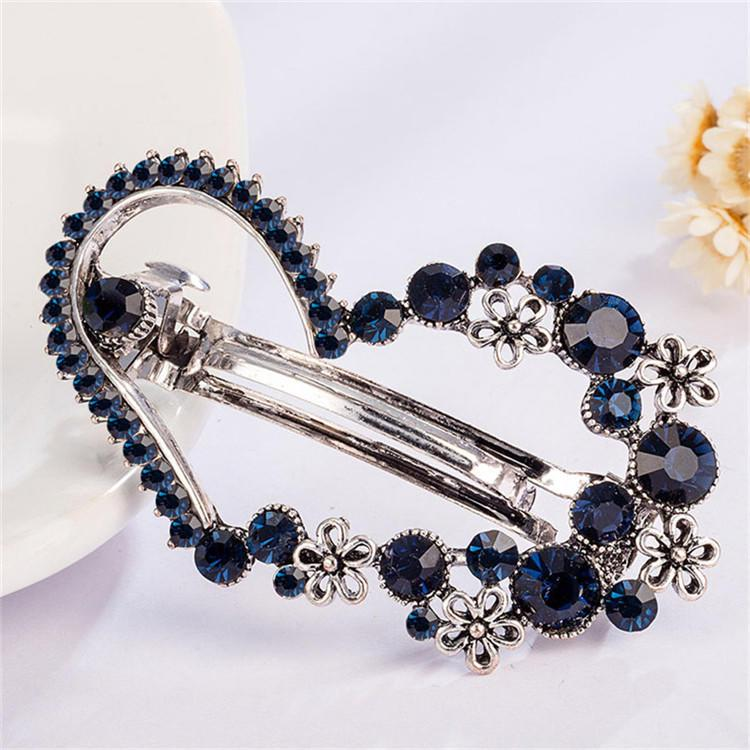 2pcs//pack French Double Layer Spring Hair Clips Barrette Styling Accessories