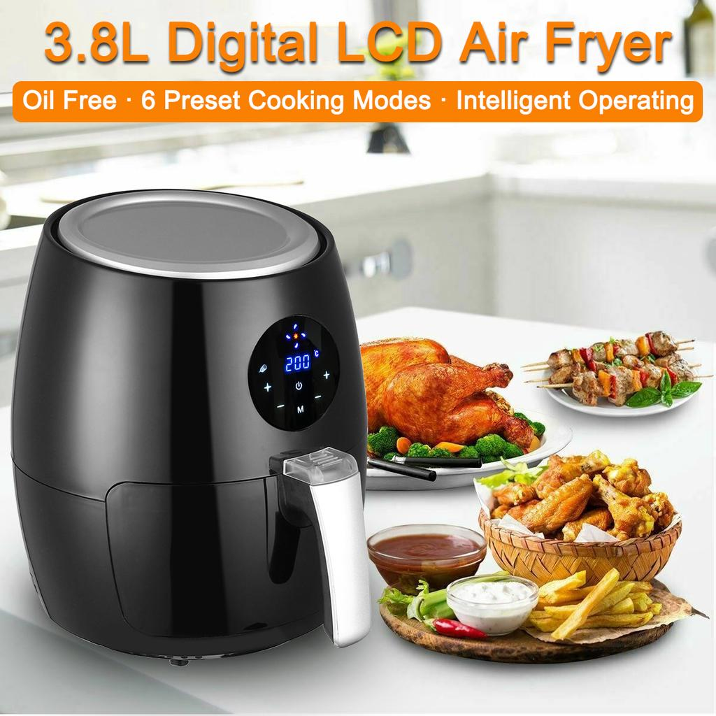 3 8l Electric Air Fryermulti Purpose Temperature Control Oil Free Air Fryer Lcd Touch Screen Without Oil Buy From 108 On Joom E Commerce Platform