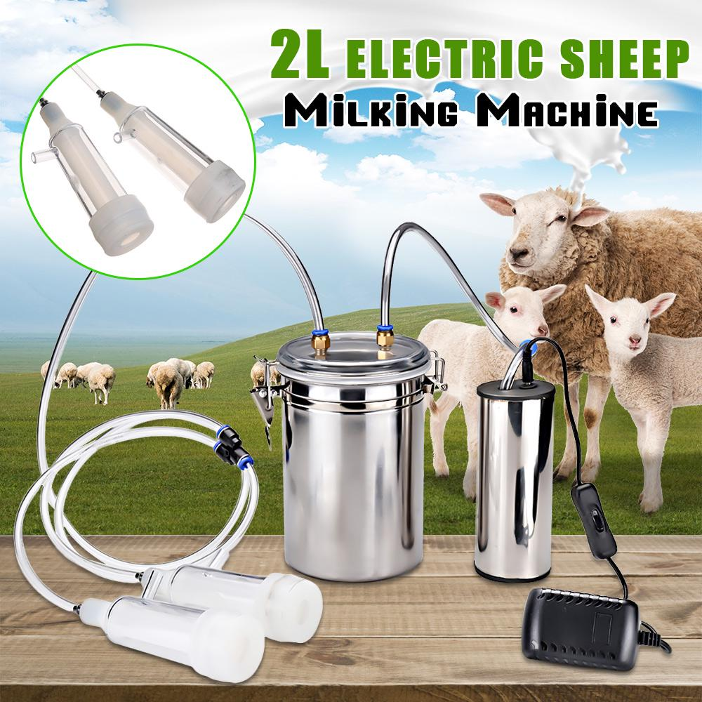 2L Portable Electric Milking Machine Cow Sheep Goat Milk Pump Impulse Home Farm