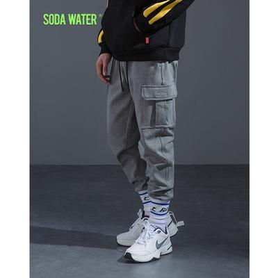 05afc53809 Cena 68 USD. WODA SODA Męskie spodnie dresowe z elastyczną talią Streetwear  Joggers Casual Solid Vintage Trousers