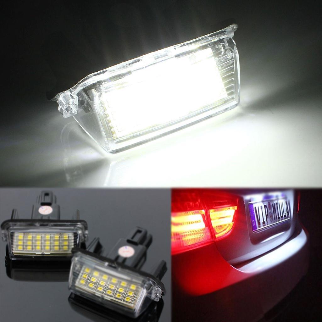 2x LED License Plate Lights High Power White For Toyota Verso Ractis 2011-2016