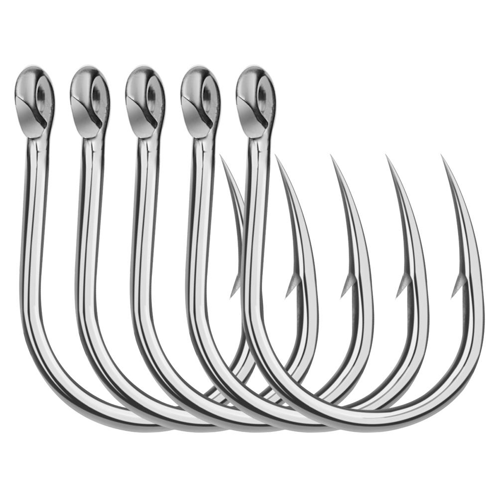 Hot 20PC Saltwater Hook Big JIGGING HOOK 1//0#-13//0# Stainless Steel Fishing Hook