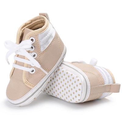 Baby Girl Boys Frenulum Hight Cut Shoes Sneaker Anti-slip Soft Sole Toddler 7ca9bde72f00