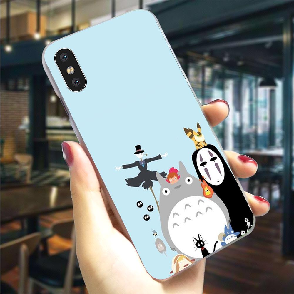 Studio Ghibli Spirited Phone Cover For iPhone 11 Case 5 5S SE 6 6S/6 6S Plus Hard Shell