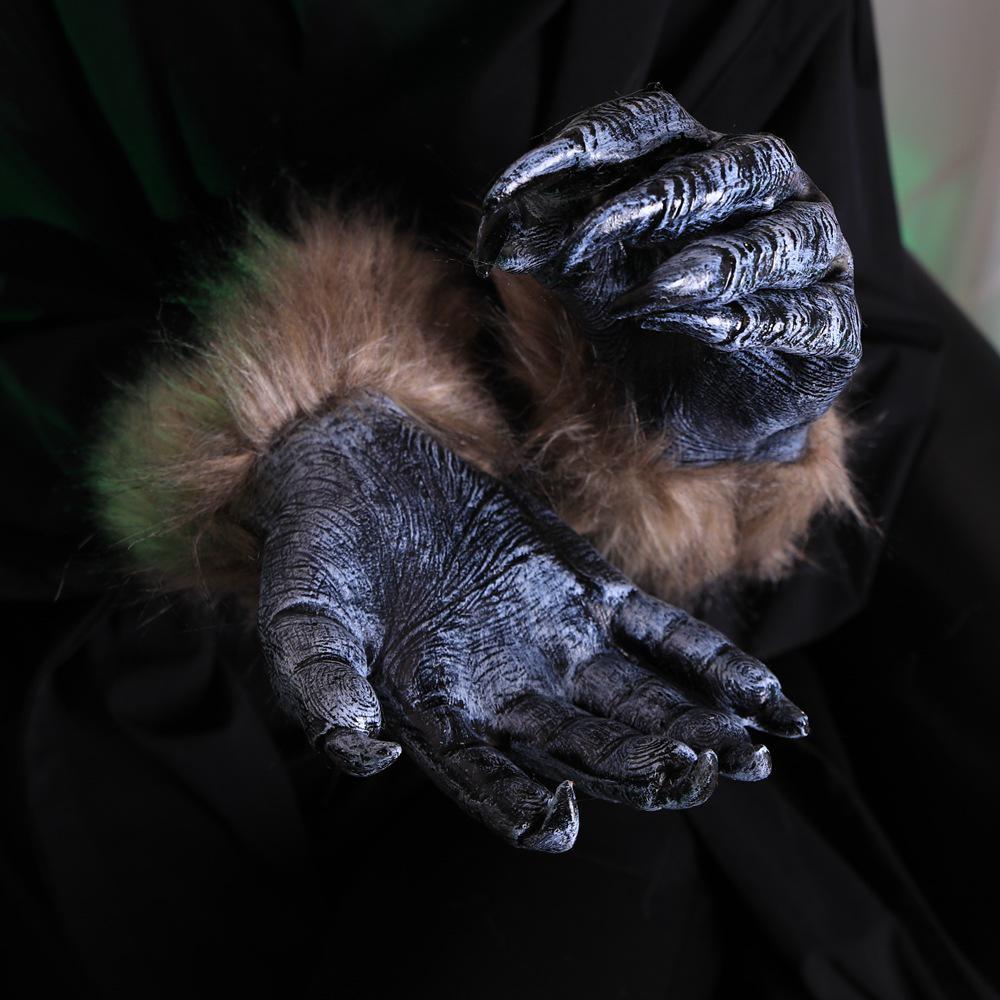 Man/'s Halloween Horror Party Fun Scary Alien Devil Hand Plastic Gloves Pair