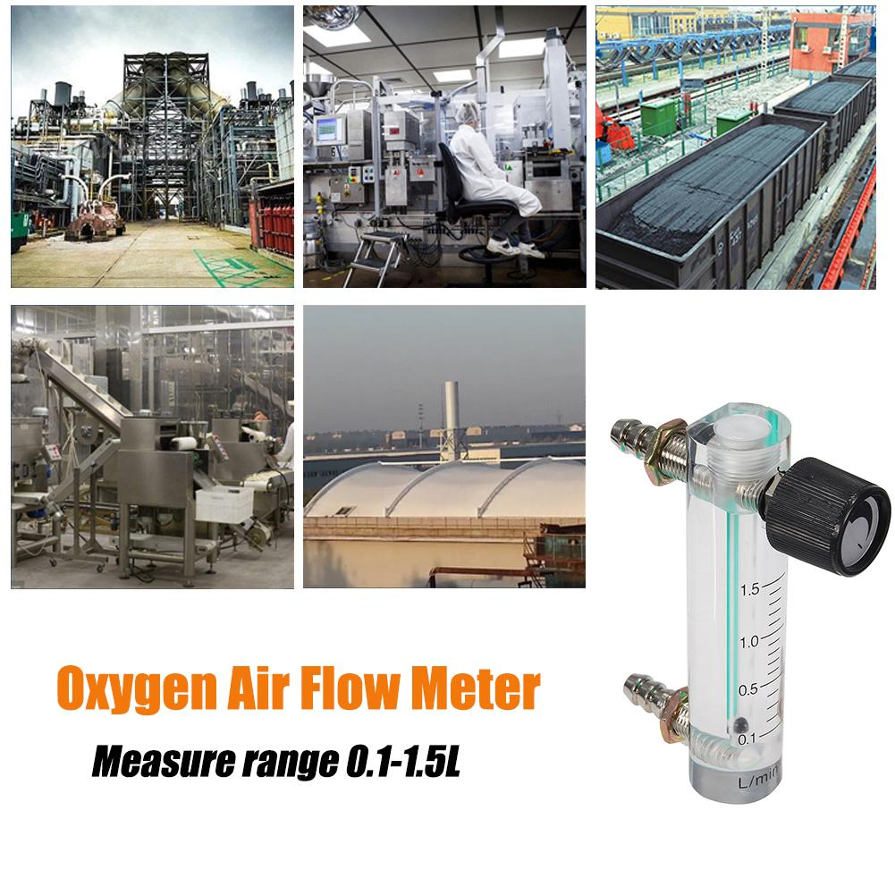 0-1.5LPM 1.5L Oxygen Flow Meter Flow Meter with Control Valve for Oxygen Air Gas