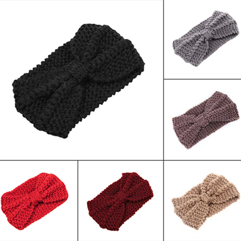 Cálido invierno Crochet punto lana tejido diadema pelo banda ...