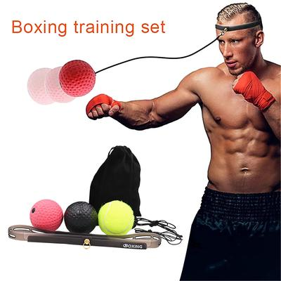 Boxing Ball Reaction Reflex Head Band Punch Fight Muscle Exercise BS