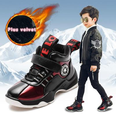 ANKIDS Boys Girls Spiderman Sneakers Plus Velvet Keep Warm Shoes