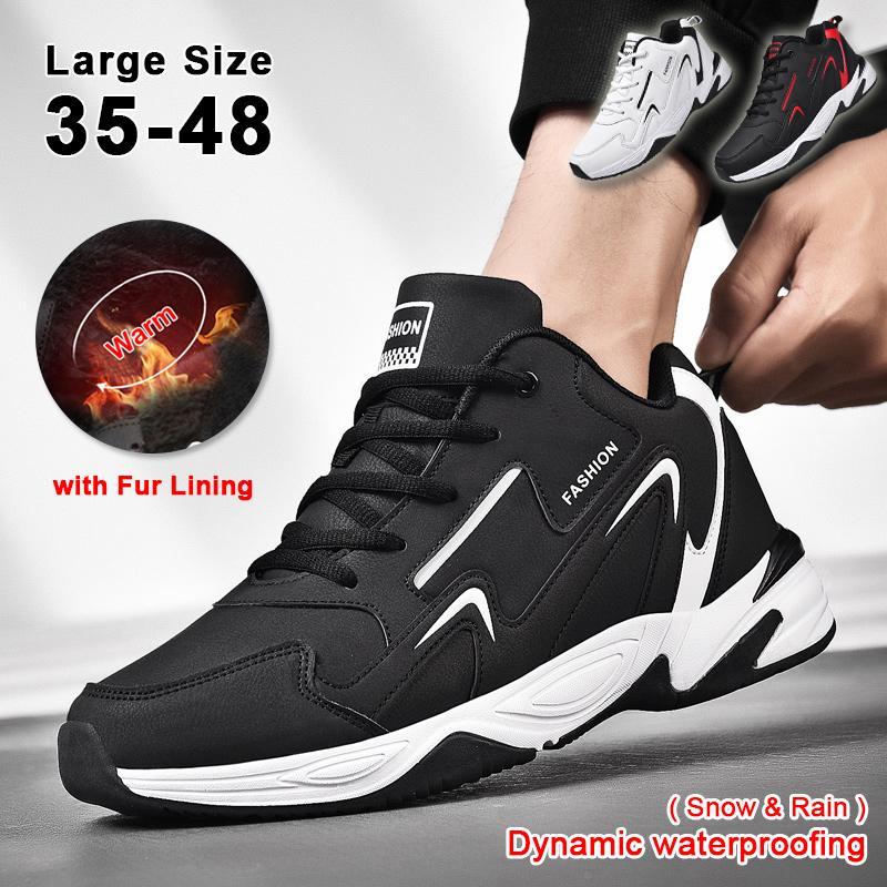 Чоловічі спортивні бігові черевики з хутряною підкладкою мода Chunky кросівки Жінки Випадкові Ходьба Тренери Зима 35-48 Велике взуття – купити за низькими цінами в інтернет-магазині Joom