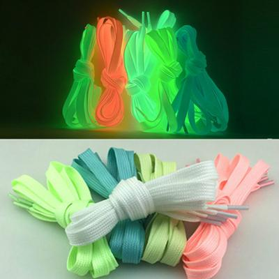 1 Pair Night Running Luminous Fluorescent Laces Creative Fashion Shoelaces Trendy Dance Party