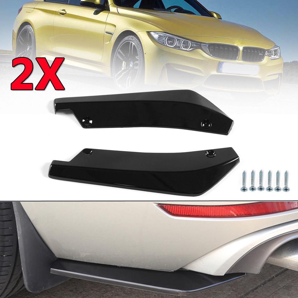 Luixxuer 1 Pair Car Modified Front Bumper Canard Lip Splitter Body Shovels Protector Universal Auto Bumper Lip Splitter