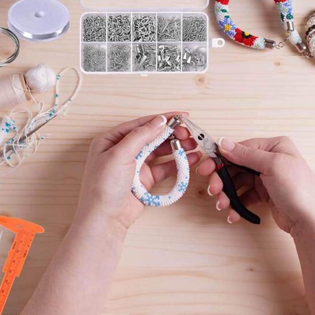 11 Pcs Jewellery DIY Making Tools Set /& Pliers Tweezers Ring Crochet Needle Kit