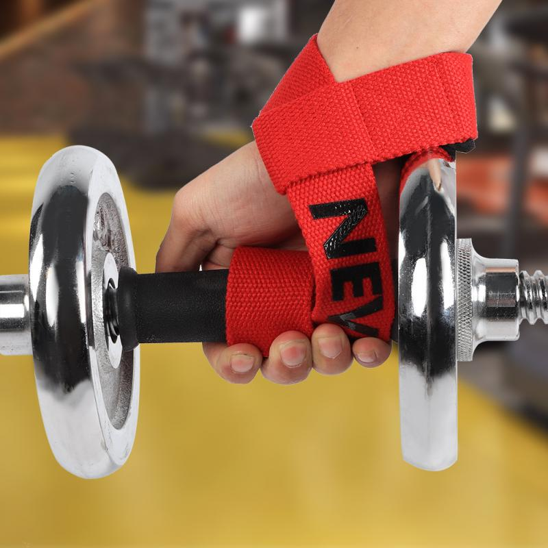 Gym Fitness Lifting Straps Weightlifting Wrist Weight Belt Barbell Wristband Hot