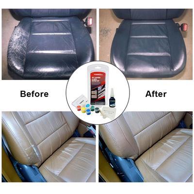 Visbella Leather Vinyl Repair Kit Car Seat Sofa Holes Scratch Cracks Rips Liquid Tool Restoration