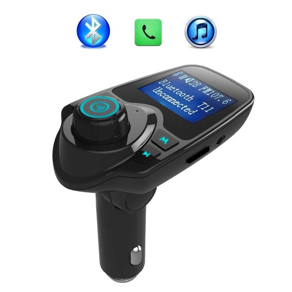 Ipod Smart phones EINCAR Car Kit MP3 Music Player Wireless Bluetooth FM Transmitter Radio Adapter Car Charger with USB SD Card Reader and Calling Remote Control for Ipad