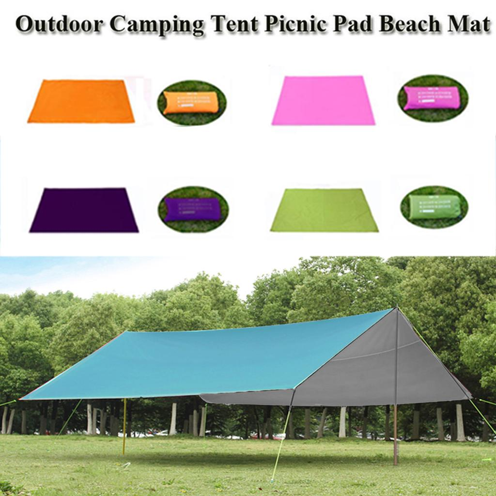 Waterproof Camping Tent Tarp Shelter Hammock Awning Sun Shade Rain Cover Pad Mat