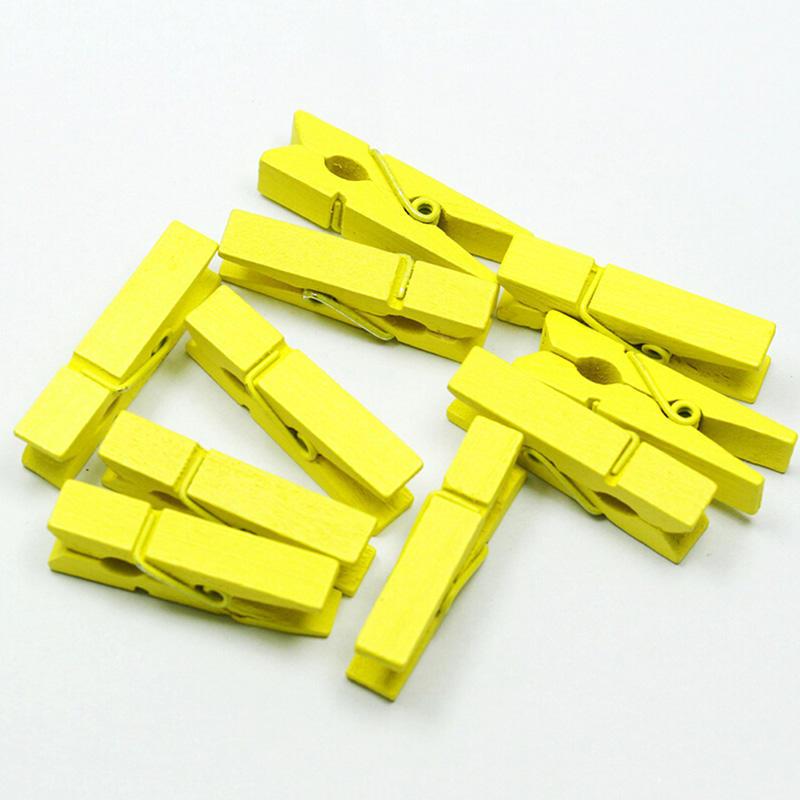 100Stück 25mm Mini Holzpflöcke Handwerk Hochzeit Holz Hängende Foto Kleine Clips