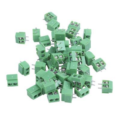 DR66 50pcs 2pins Printed Circuit Board Connector Block Screw Terminals