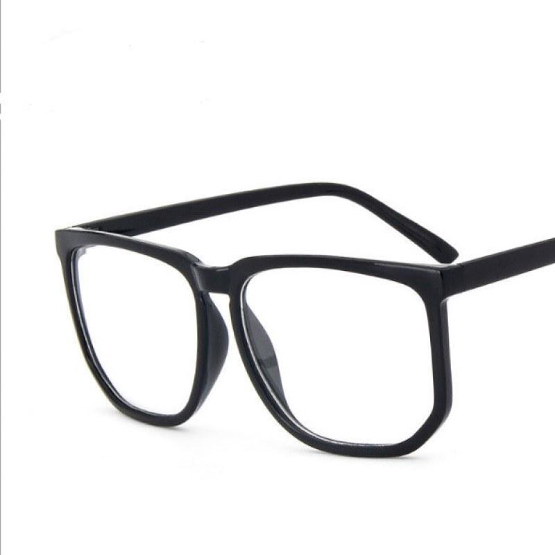 Espejo plano caja grande Retro grande marco plano gafas ojos ...