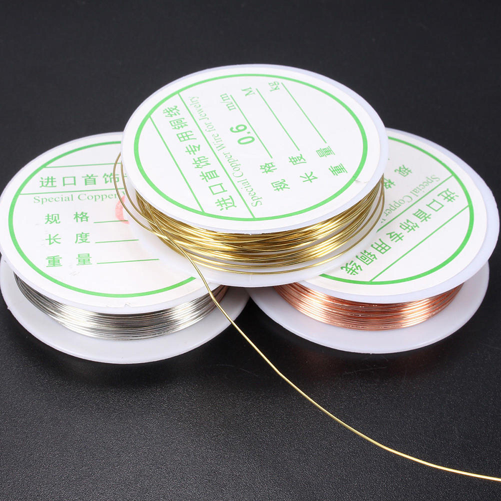 1 Roll 0.3//0.4//0.6//0.8mm Plated Copper Wire Beads Jewelry Making Accessories