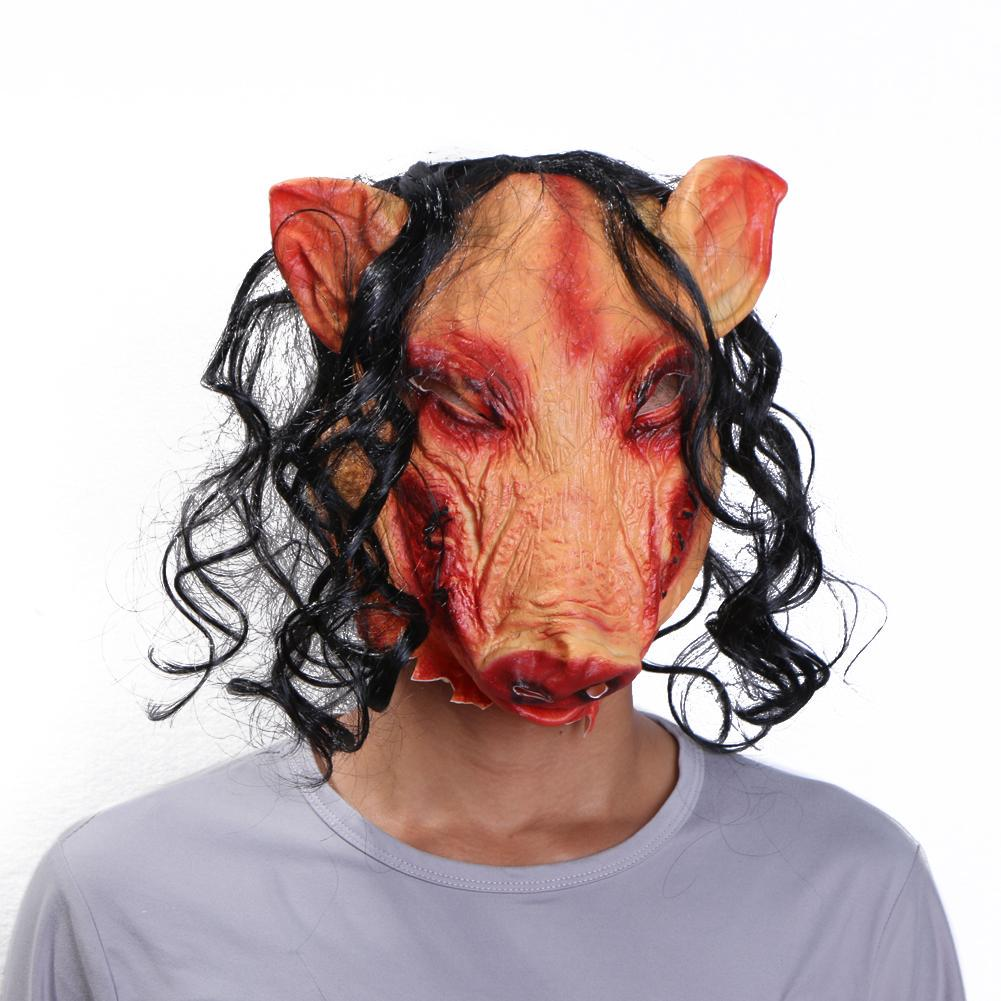 Adult Halloween Scary Bloody Zombie Red Face Mask Costume Horror Latex Fancy UK