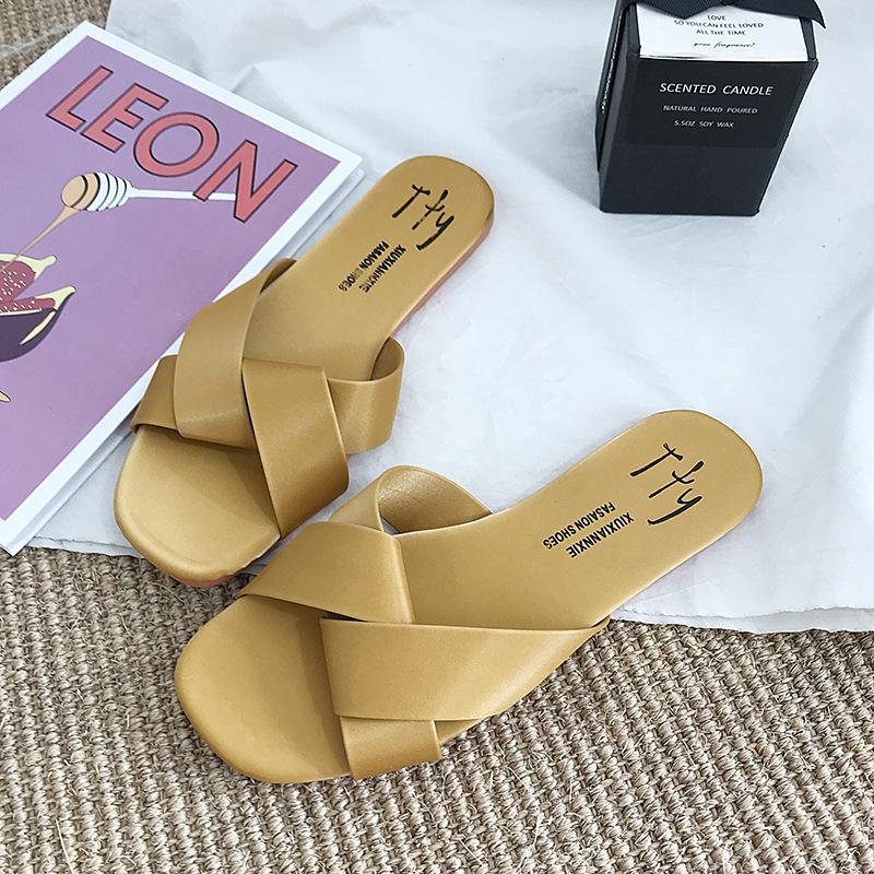 Details about  /Wild Pair Women/'s Shoes Mabel Fabric Closed Toe Slide Flats
