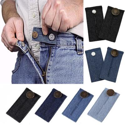 2pcs Skirt Trouser Jeans Button WAIST Expanders Men Women Clothes Accessor Belt