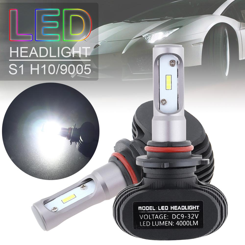 2Pack H3 200W Fog Light Wihte 2323 LED DRL Projector Lamp Bulb 6000K 12V DC Hot