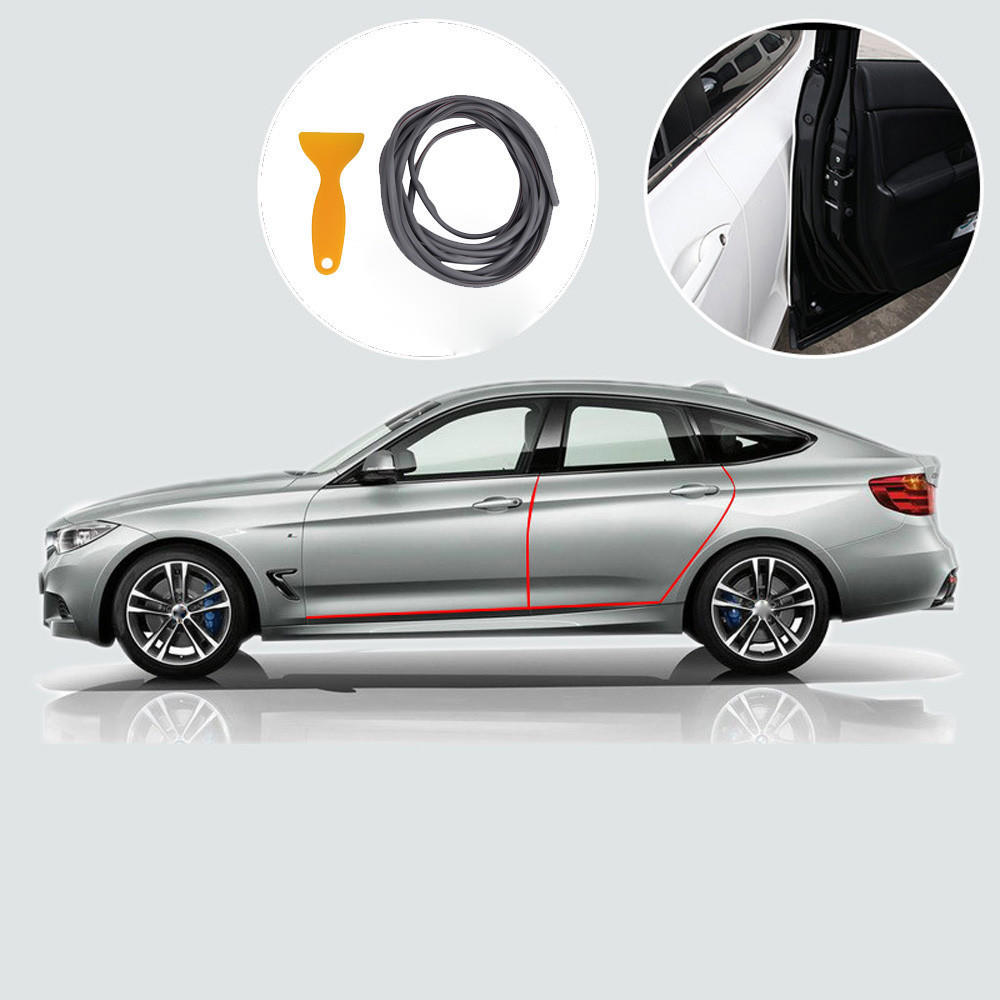 5M Car Door Sill Edge Seal Scratch Protector Trim Rubber Mold Strip Car styling
