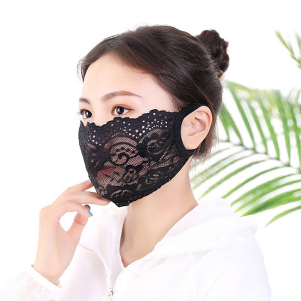 Маска моющиеся кружева Лицо Рот Обложка Наоткрытом – купить по низким ценам в интернет-магазине Joom