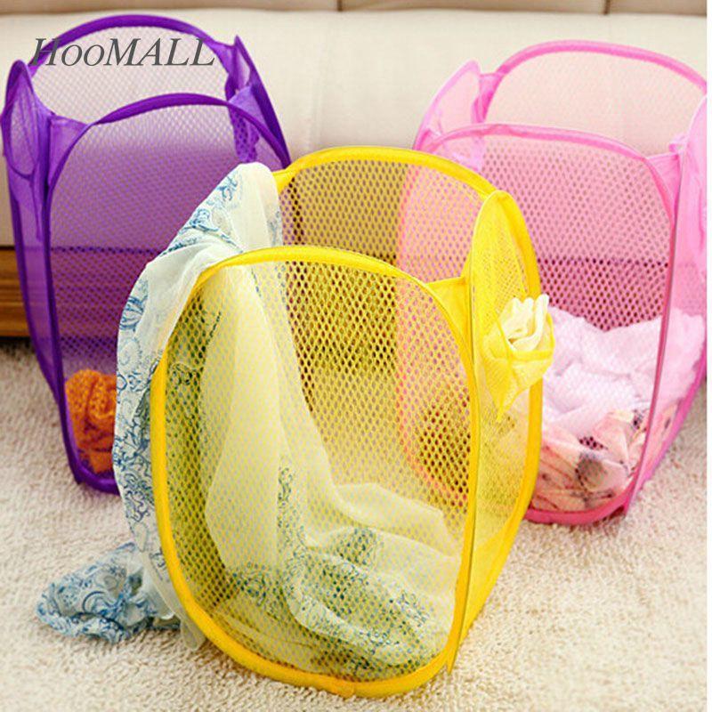 8b0b9dba0 Cesta del almacenaje nylon malla tela cesta de lavadero para juguete ...