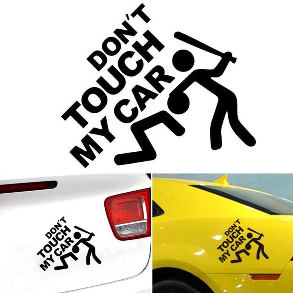 1pcs Black High Gas Consumption Style Auto Car Body Door DIY Sticker Accessories