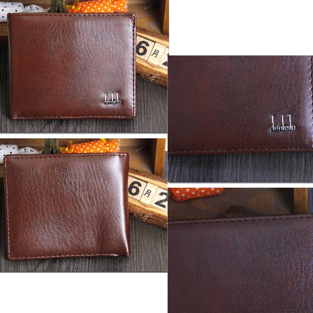 Mens Walllet Zipper Autumn Leaf PU Leather Long Wallet for Cards ID Cards